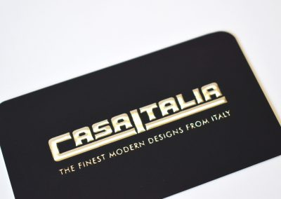 Raised-silver-foil-business-card-with-round-corners
